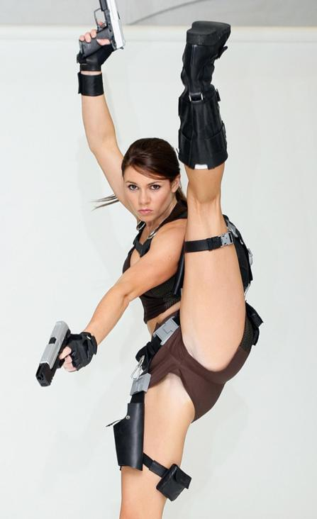 Alison Carroll as Lara Croft Cosplay