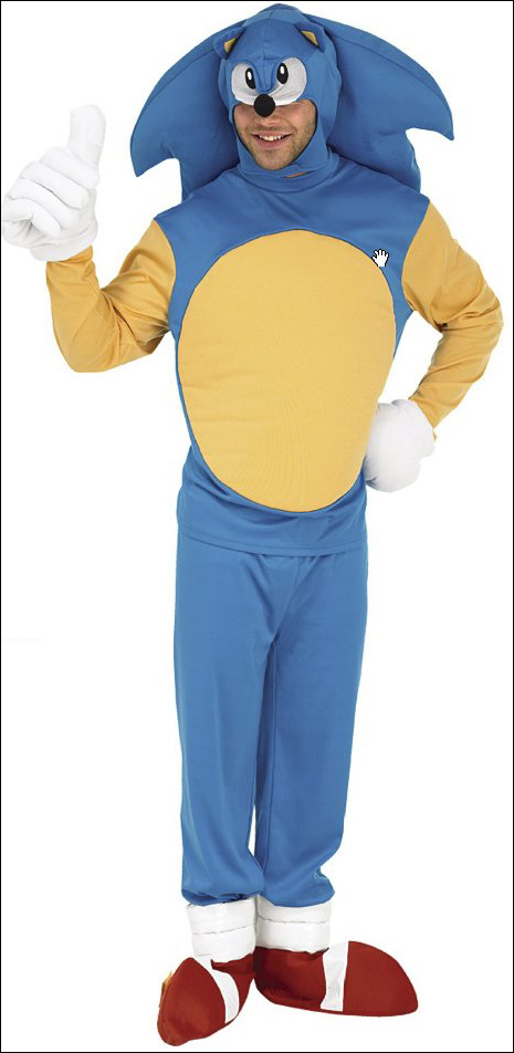 marshall ward sonic costume 1