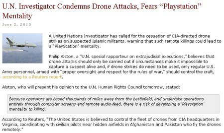 playstation drone killings